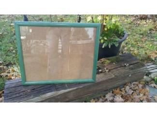 Lijst glas ophang, 50x40, br.3.0xdikte1.8cm