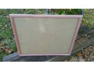 Moderne bolle Lijst oud roze gestreept, 50.5x40.5