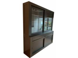 Buffetkast antraciet - grijs design 200 x 50/40 x 220cm