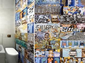 Graffiti street art wandtegels 25x76 vintage design tegels kopen