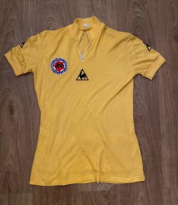 Origineel le coq sportif gele trui jaren 70! 75 euro!!