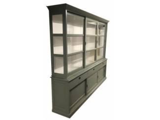 Buffetkast Lisse Engels groen - wit 300 x 50/40 x 240