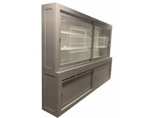 Buffetkast Diemen grijs - wit strak design 300 x 220cm