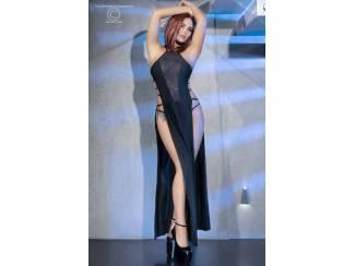 Lange satijnen jurk van Chilirose