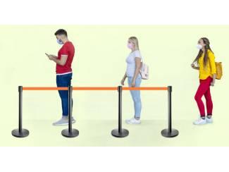 Overige Zaken en Transacties Afzetpalen Social Distancing voor de 1.5 meter regel