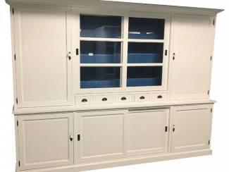 Buffetkast Gieten XL wit - blauw 300 x 50/40 x 230