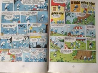 Stripverhalen Drie smurfen kinderboeken met afbeelding ,veel lees-lach plezier