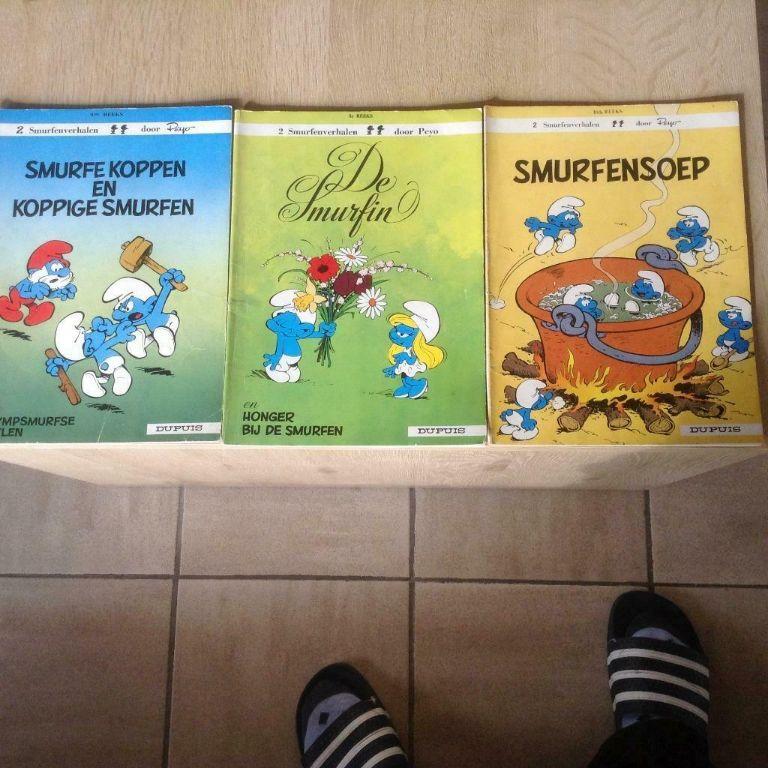 Drie smurfen kinderboeken met afbeelding ,veel lees-lach plezier