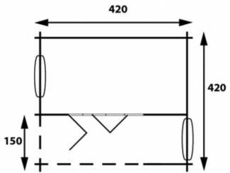 Tuinhuisjes en Meubelen Tuinhuis-Blokhut subliem 4x4: 420 x 420 x 260 (h) cm