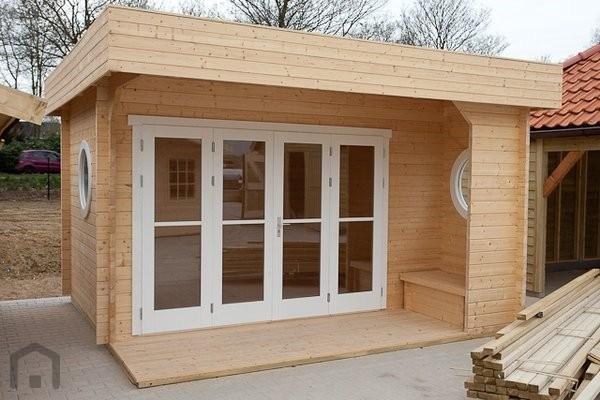 Tuinhuis-Blokhut subliem 4x4: 420 x 420 x 260 (h) cm