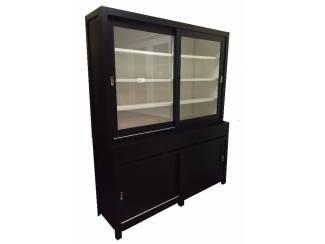 Opruiming Winkelkast Dimolfetta zwart 180cm gratis bezorgd