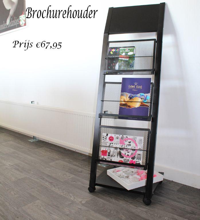 Folderrek en display voor documenten