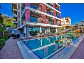 Turkije-Alanya moderne 1 slpk appartement nabij Cleopatra strand