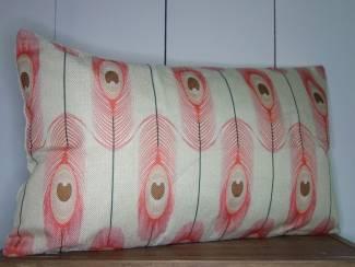 Kussenhoes Pink Feather   Landelijk   Rechthoekig   30 x 50 cm