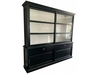 Buffetkast zwart - wit Ermelo XL  240 x 50/40 x 240cm