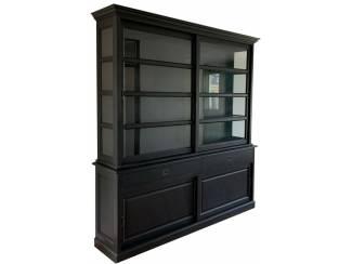 Buffetkast zwart - zwart Nijkerk 220 x 50/40 x 240cm