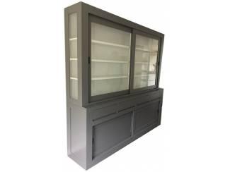 Design buffetkast grijs - wit Petten 220 x 50/40 x 220cm