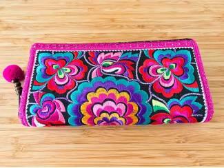Thaise geborduurde portemonnee of clutch