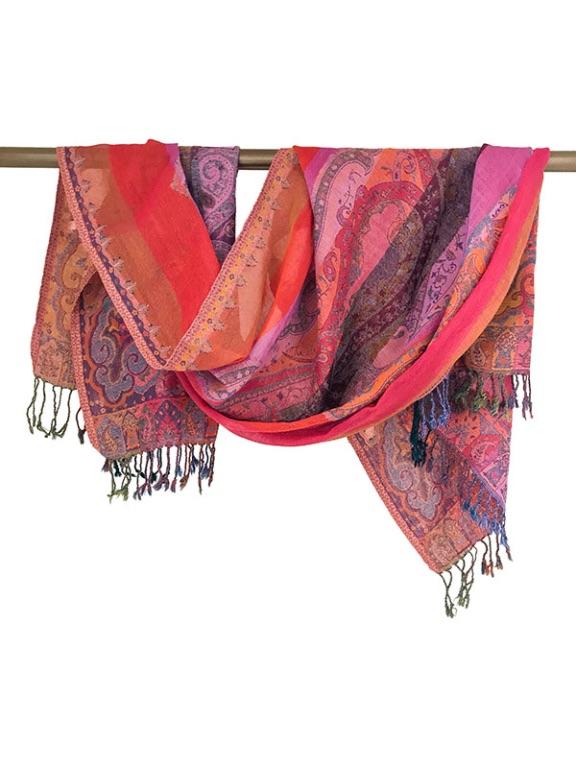Sjaal van wol handgeweven in India